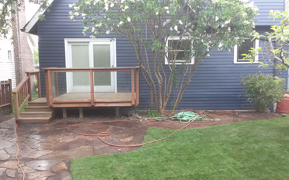 Lawn renovation for real estate listing