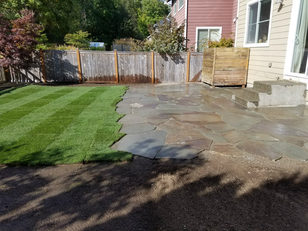 seattle landscaping flagstone patio